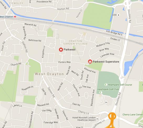 Parkwest Map